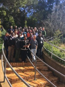 Participants of the African Training workshop 2017 are gathered for a group photo in Cape Town