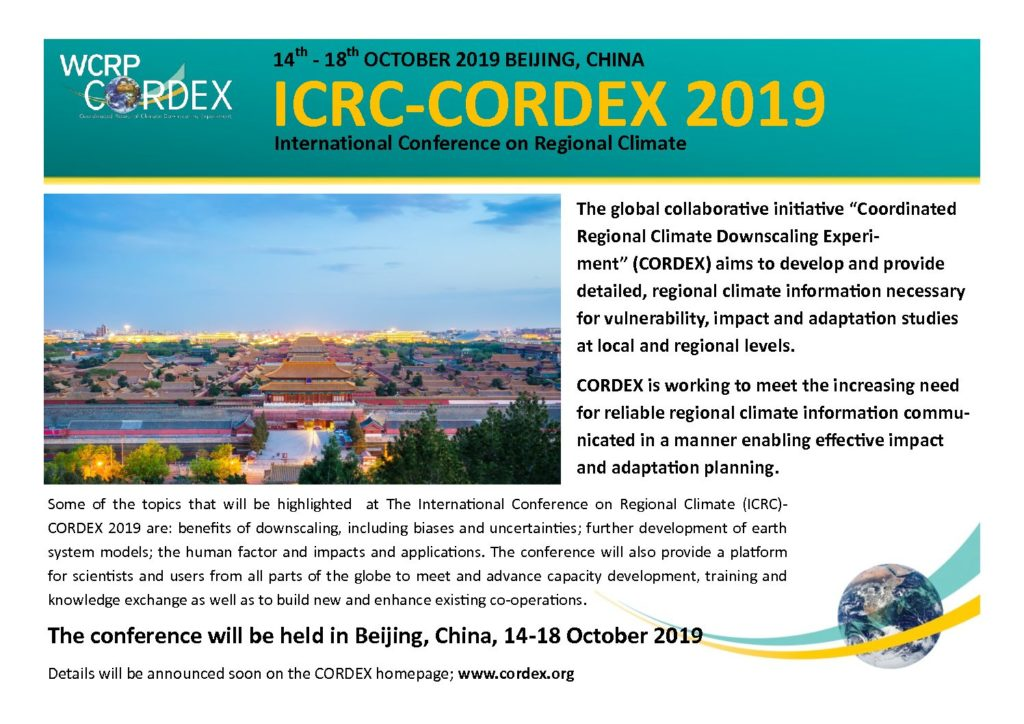 Click here for the ICRC-CORDEX 2019 web