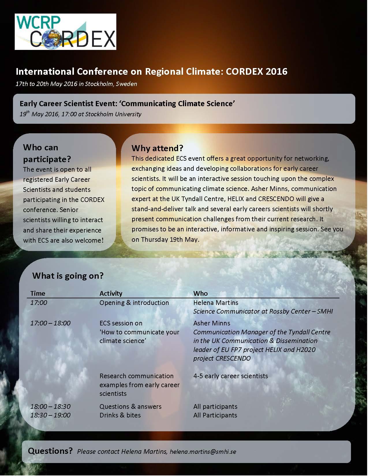 thumbnail of CORDEX2016-ECS Flyer